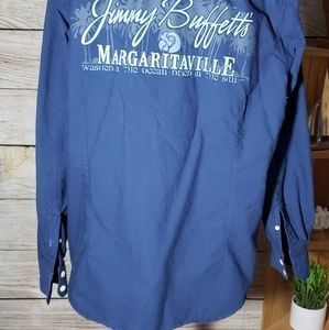 EUC Jimmy Buffet Margaritaville denim shirt size X Large